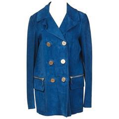 Gucci Blue Suede Jacket, Modern