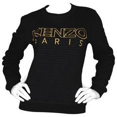 Kenzo NEW Black Cotton Sweatshirt sz L
