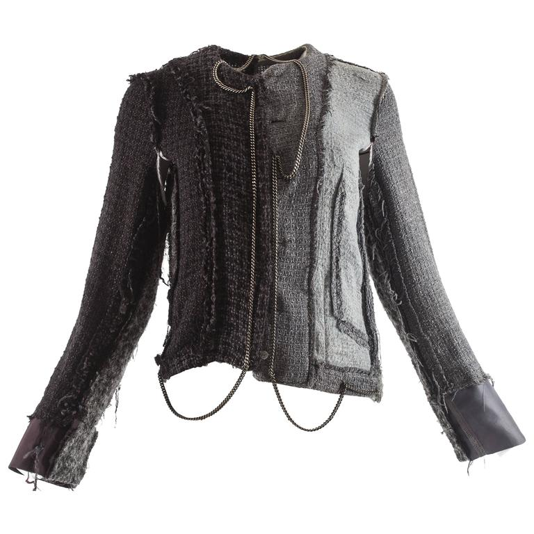 Maison Martin Margiela Autumn-Winter 2005 inverted jacket with metal chains  1