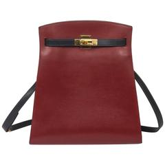 Hermes - Kelly Sport GM Bicolor Rouge H/Navy Box Leather