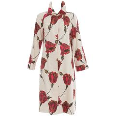 Dries Van Noten Silk Cotton Linen Tulip Print Coat, Spring - Summer 2005