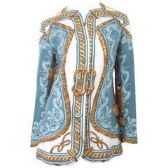 1990's Rare Vintage HERMES Silk Jacket  BRIDE DE COUR