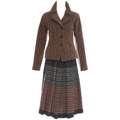 Dries Van Noten Wool Tweed Skirt Suit, Autumn - Winter 2004