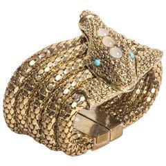 Kara Ross Vintage 14K Gold Plated Snake Bracelet