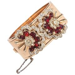 Vintage Gold Washed Sterling Silver Bracelet with Detachable Dress Clips