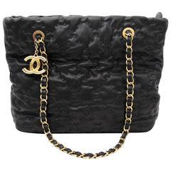 Chanel Black Stitched Shoulder Bag