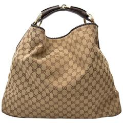 Gucci Brown Monogram Horsebit Bag
