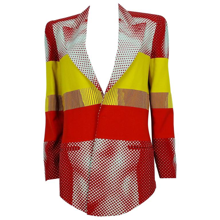 Jean Paul Gaultier Vintage Cyberbaba Body Illusion Blazer USA Size 10