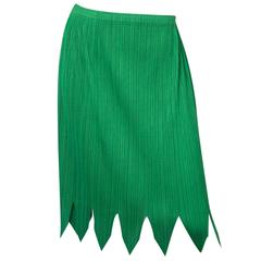 Pleats Please Green Micro-Pleated Skirt sz 5