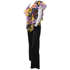 70s Jumpsuit w/ Handkerchief Top