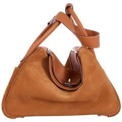 Hermes 34cm Lindy Bag Super Rare Grizzly Suede & Swift