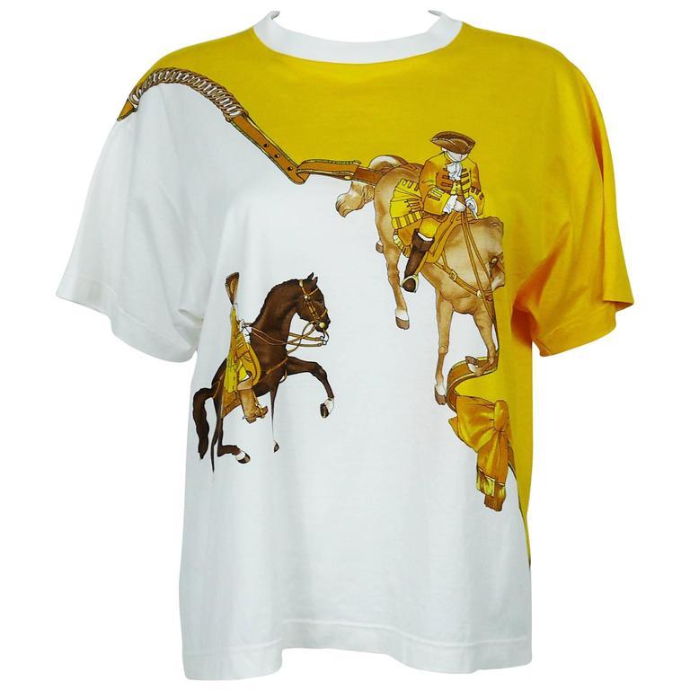 """Hermès Vintage """"Reprise"""" Print Cotton T-Shirt"""
