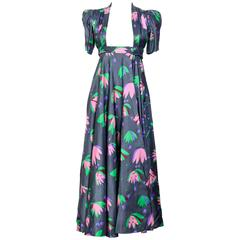 OSSIE CLARK Iconic 1970's Tulip Print Celia Birtwell Wrap Dress
