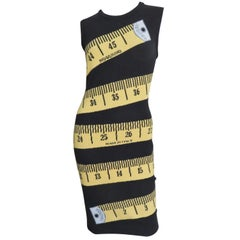 Moschino Couture Jeremy Scott Measuring Tape Dress