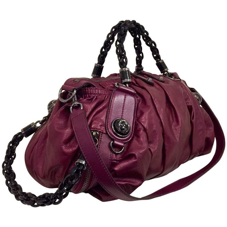 Gorgeous Gucci Metallic Magenta Galaxy Bag