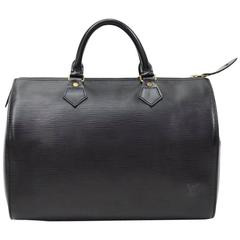 Vintage Louis Vuitton Speedy 30 Black Epi Leather City Hand Bag
