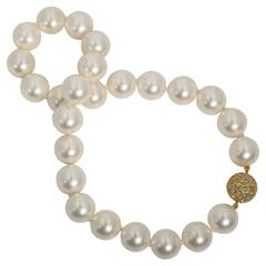For Day And Night  Real Looking  Strand of 14mm Wonderful Faux Pearls