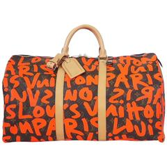 Louis Vuitton Monogram Graffiti Keepall 50 Stephen Sprouse