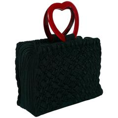 "Yves Saint Laurent YSL Vintage ""In Love Again"" Heart Handle Bag"