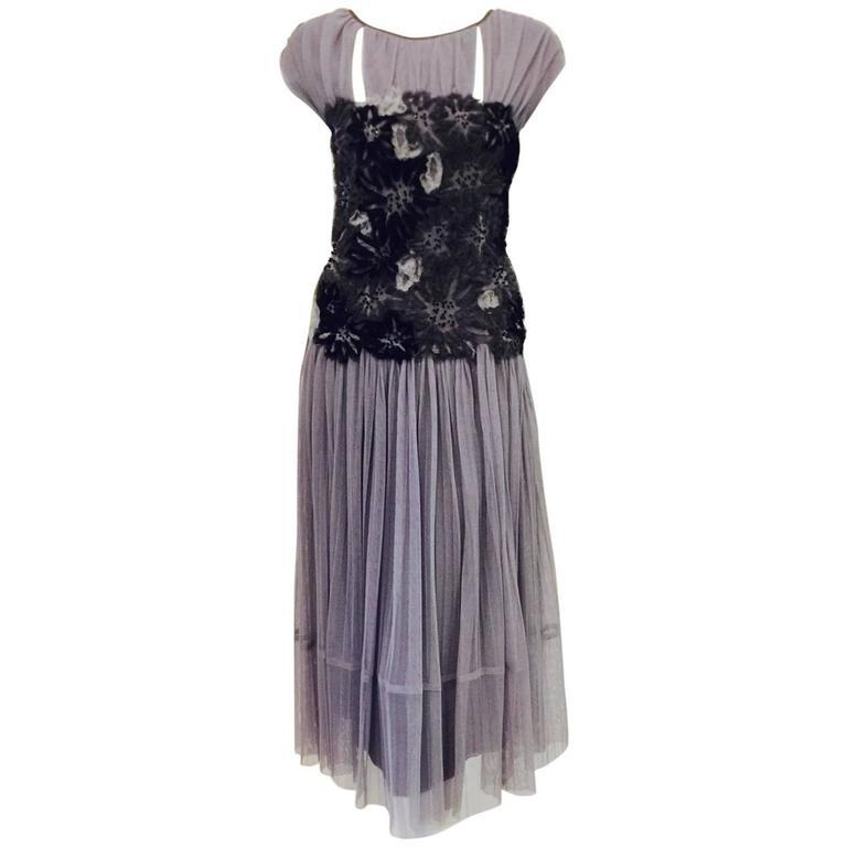 Tory Burch Fall 2012 Silk Lined Faith Tulle Cocktail Dress