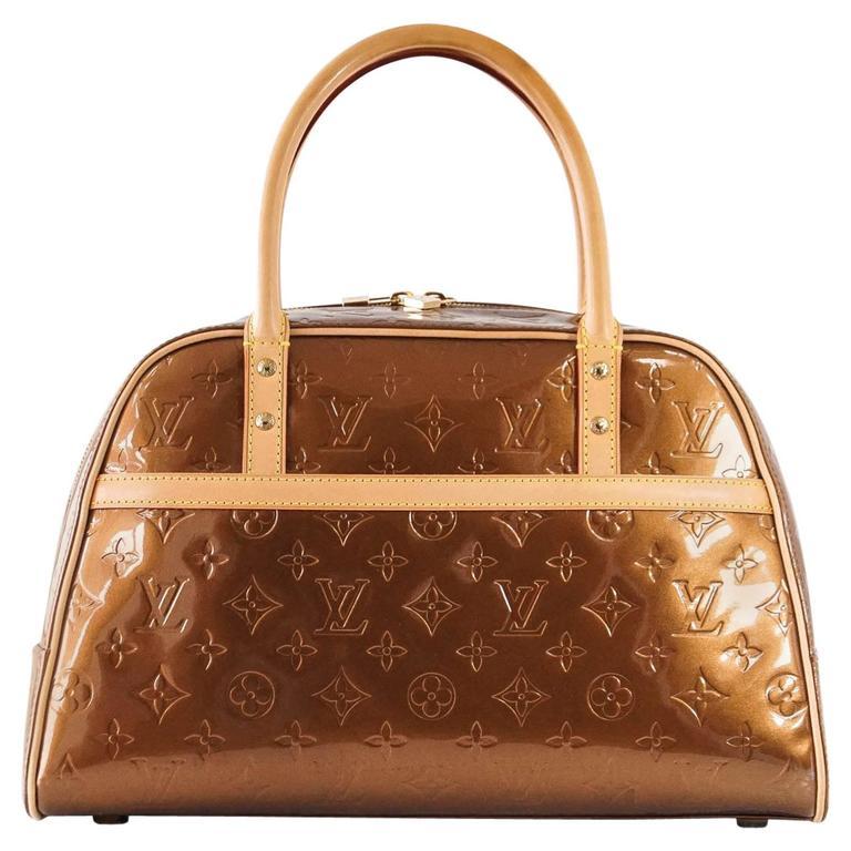 b0186fe2b47c Louis Vuitton Bag Monogram Vernis Tompkins Square Satchel For Sale