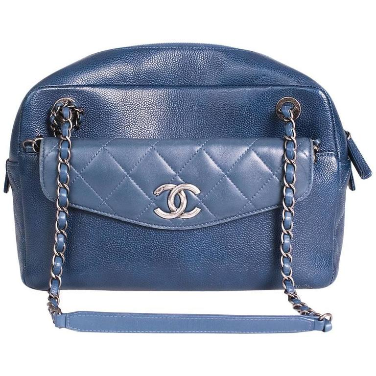 b3387991820345 Chanel Blue Leather Camera Bag from 2016 For Sale at 1stdibs