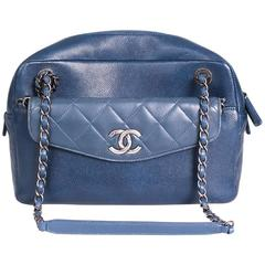 Chanel Blue Leather Camera Bag from 2016