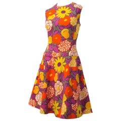 60s Flower Power Drop-Waist Dress