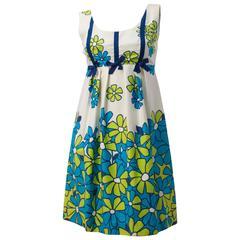 60s Hawaiian Print Daisy Mini Dress