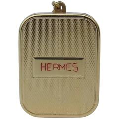 RARE Hermes Keychain music box Golden Metal