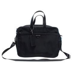 Prada Men's Black Nylon Briefcase