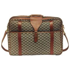 Vintage 1980's Goyard Valise with Leather Trim