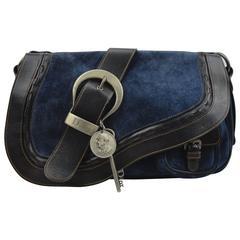 Dior Gaucho Navy Suede Bag
