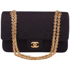Chanel 2.55 Reissue Medium Double Flap Bag Jersey 1992 - black