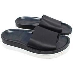 Christian Louboutin Men's Black Leather Sliders