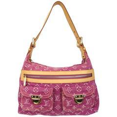 Louis Vuitton Fuchsia Denim Monogram Baggy Bag