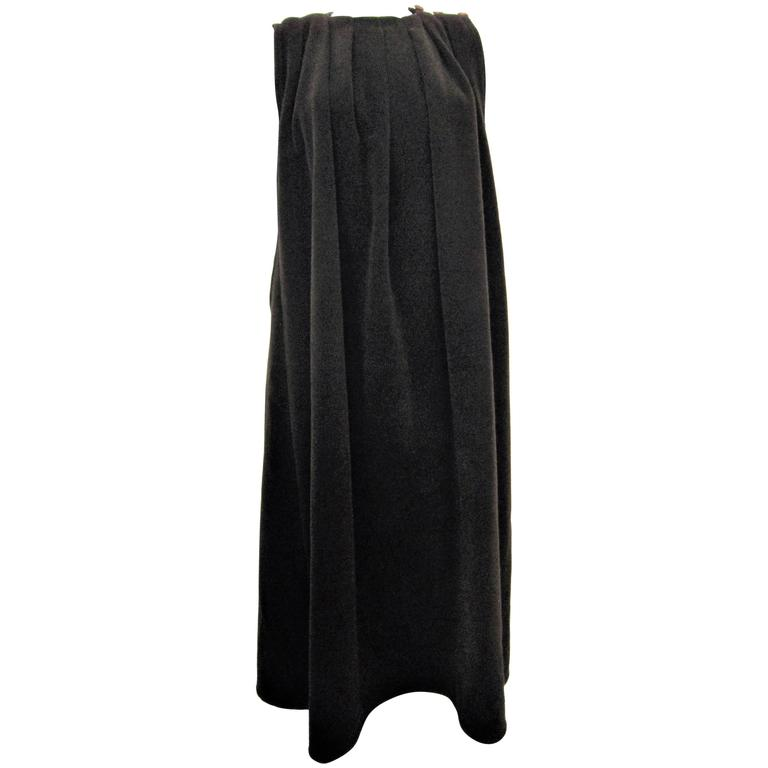 GIORGIO ARMANI brown wool cape For Sale