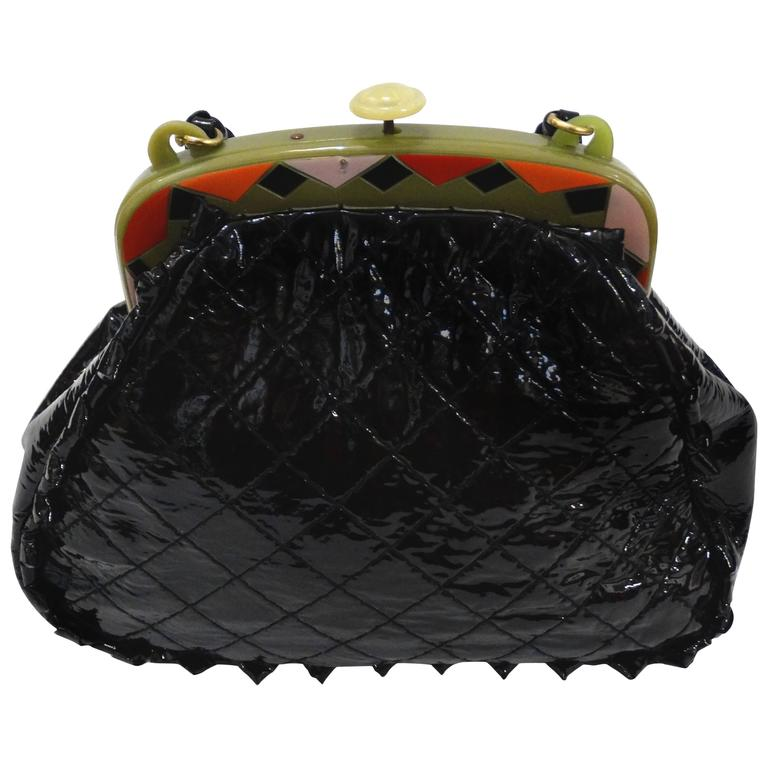 9c1a32c1c732 Custom Anthony Luciano Patent Enamel Handbag For Sale at 1stdibs