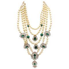 1980s Courreges Paris Layered Pearl Necklace