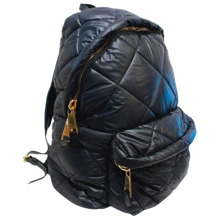 Moschino Black Oversized Quilted Backpack 1
