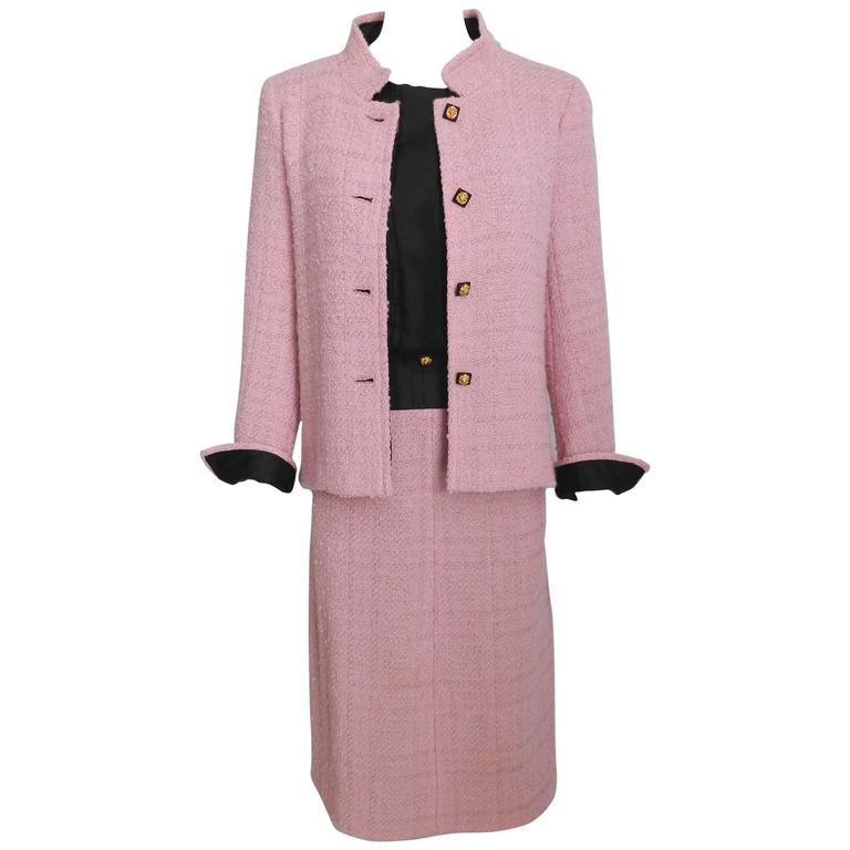 Chanel 1963 Haute Couture Pink Suit - Documented 1