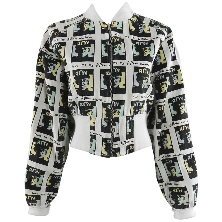 Vintage BOY London 1980's Andy Warhol Bomber Jacket 1