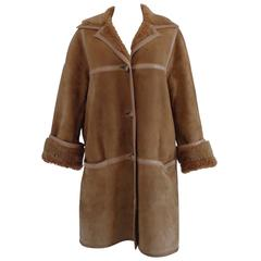 Rare Celine Paris Beije Mouton Sheep Coat