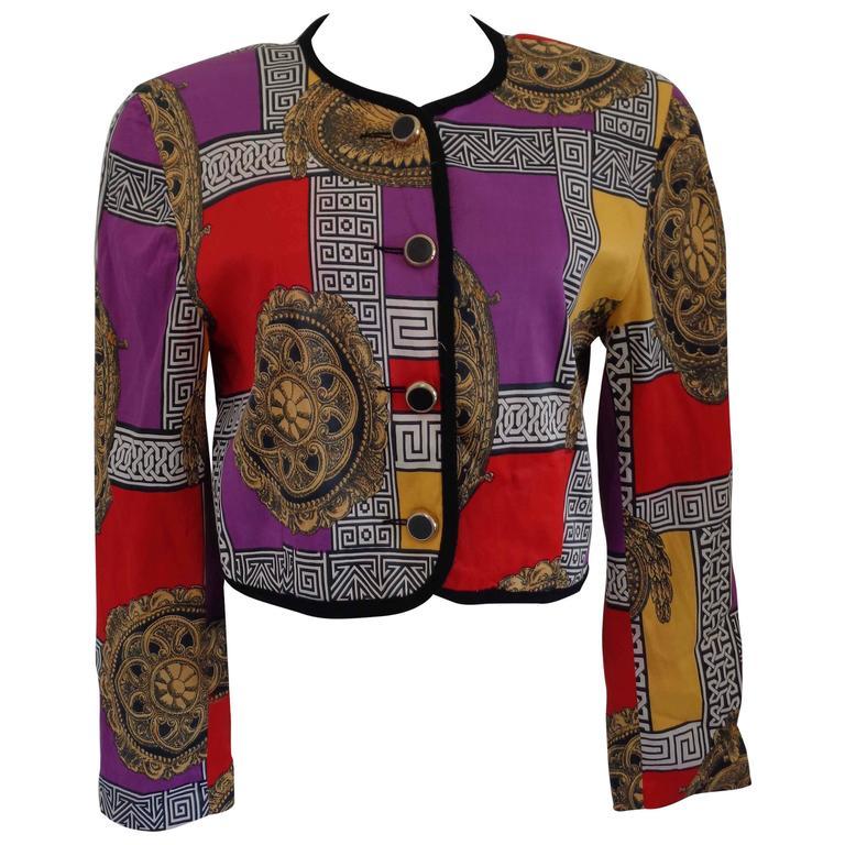 1980s Vintage Multicolour Bolero Jacket