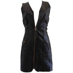 Moschino Cheap & Chic Black Leather Dress