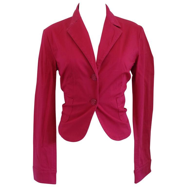 Versace Jeans Couture Fucsia Cotton Jacket