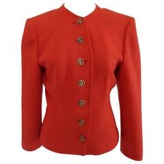 Yves Saint Laurent Variatio Red Wool Jacket