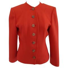 Yves Saint Laurent Variatio Red Wool Jacket