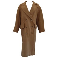 Hermes Paris Brown Cashmere Coat