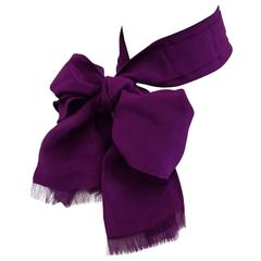 Lanvin Purple Scarf NWOT